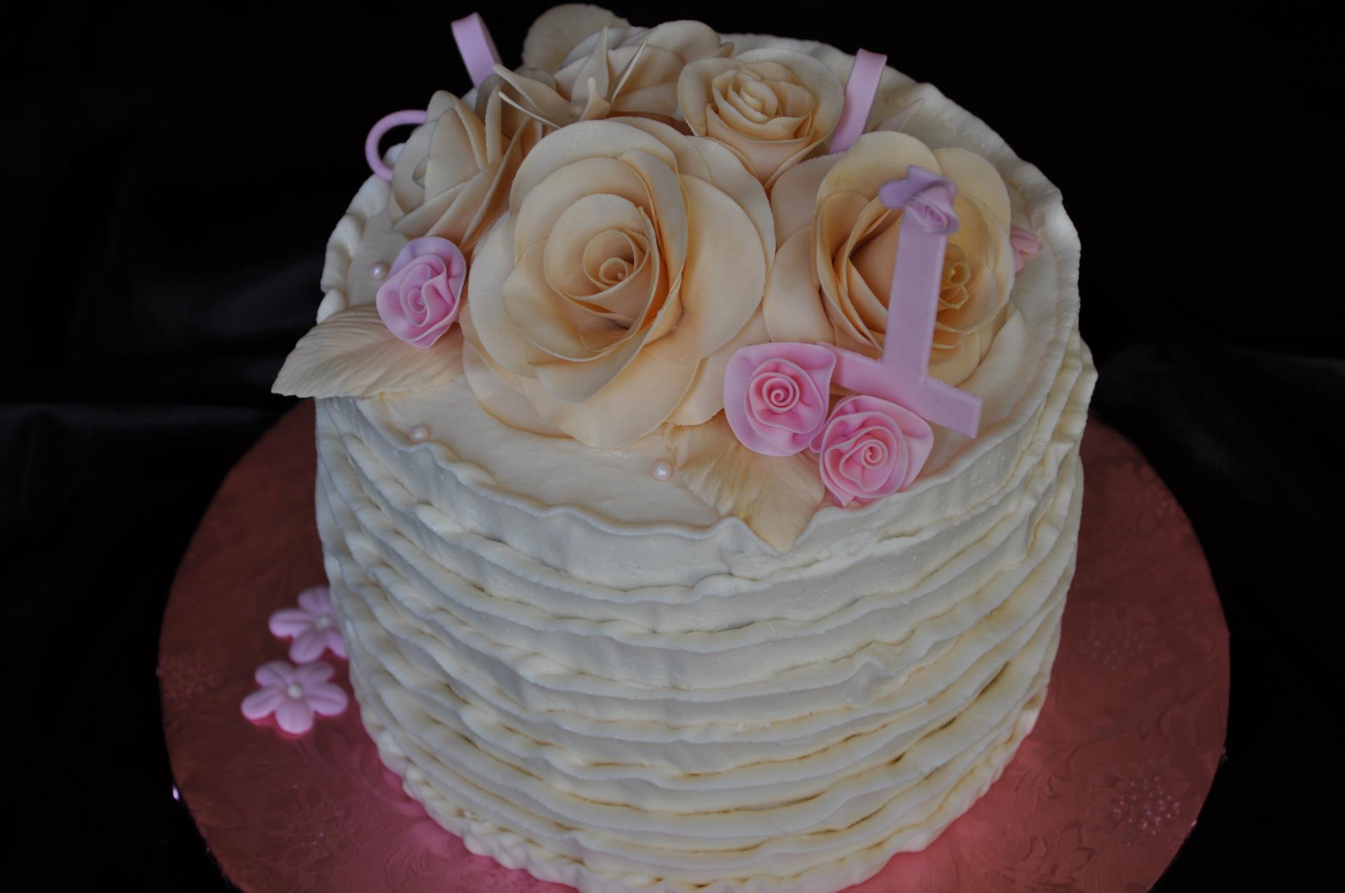 Ivory ruffles- 1st birthday