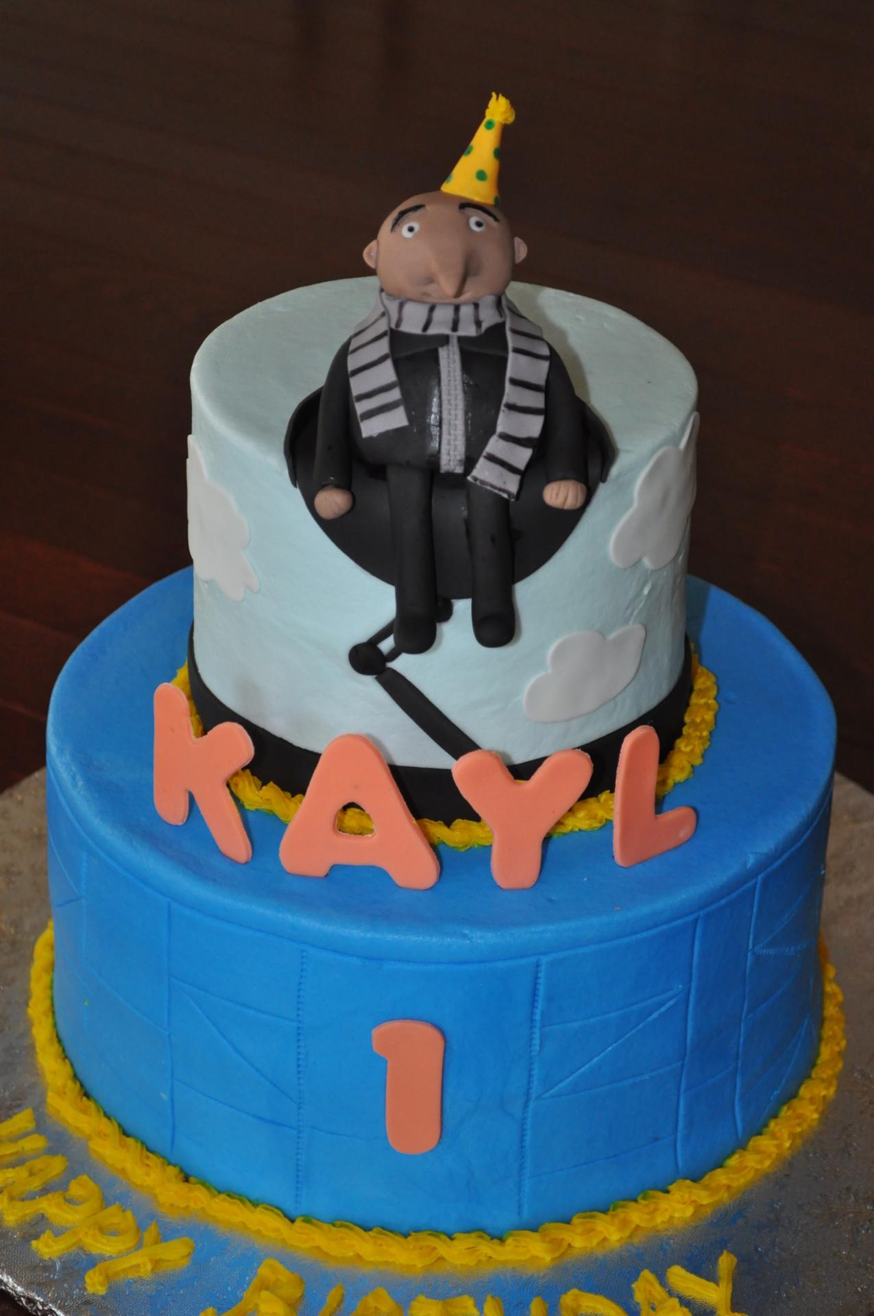 Gru -Despicable me theme cake