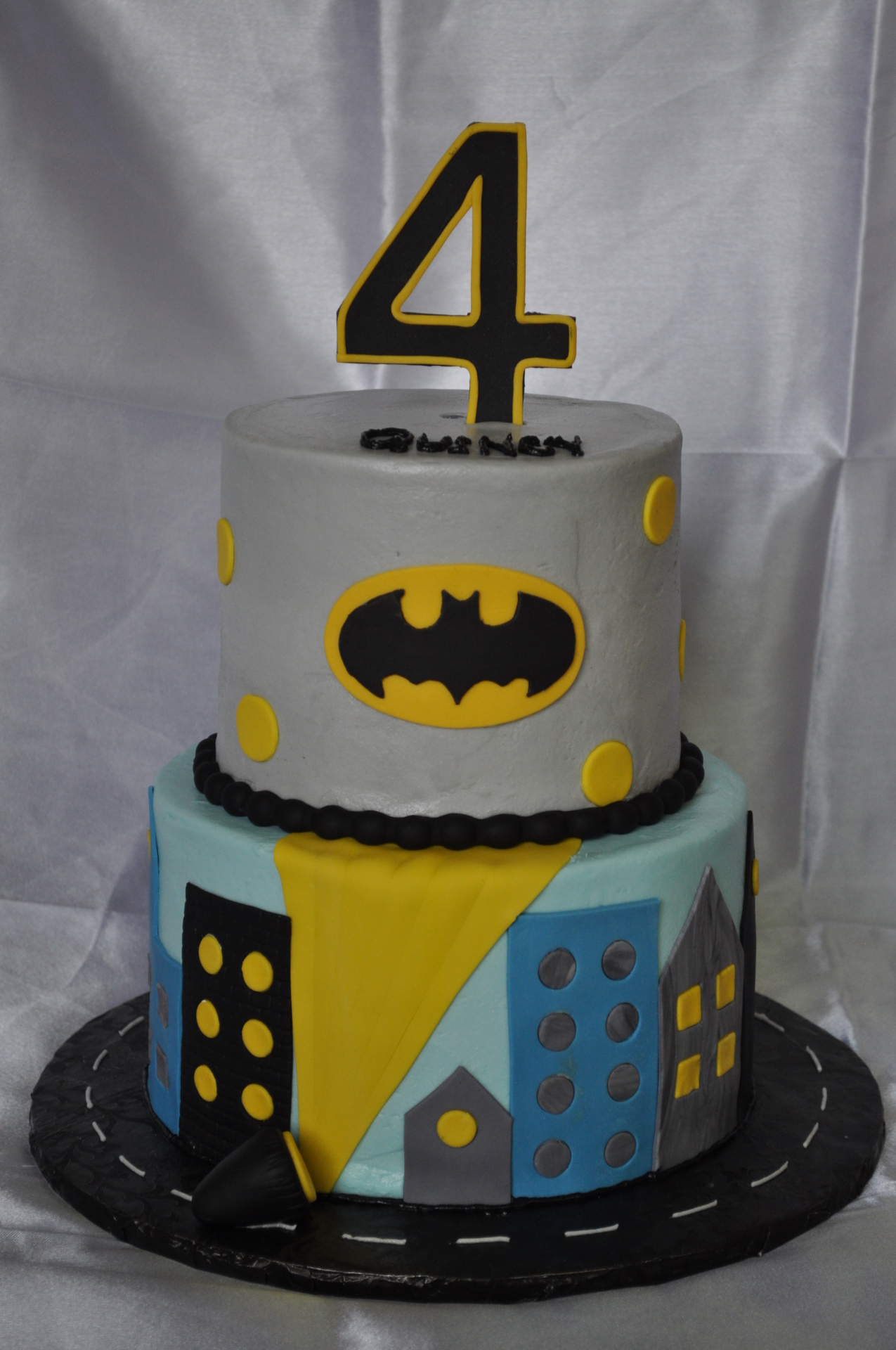 Batman theme tiered birthday