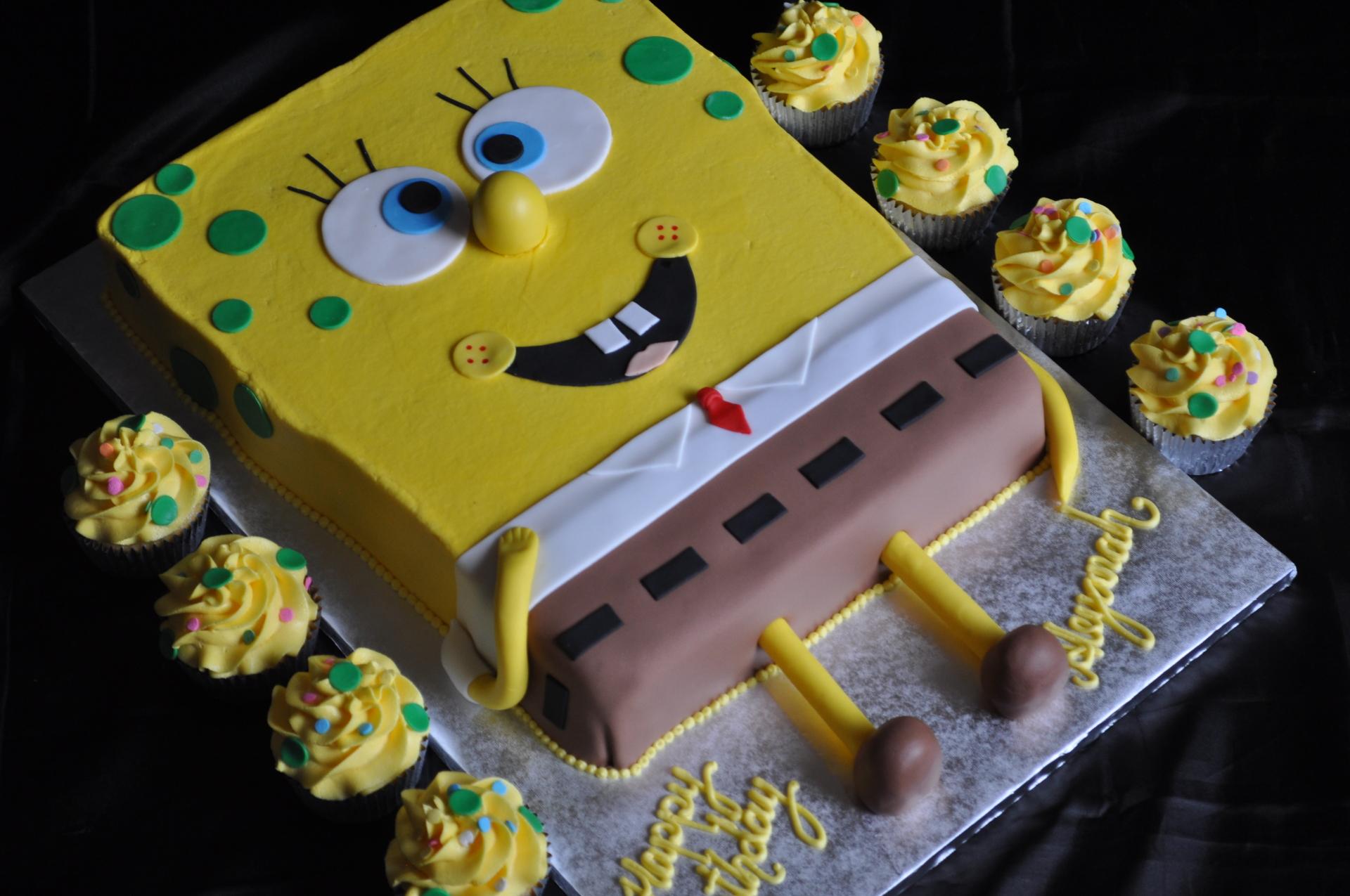 Spongebob cake cupcakes