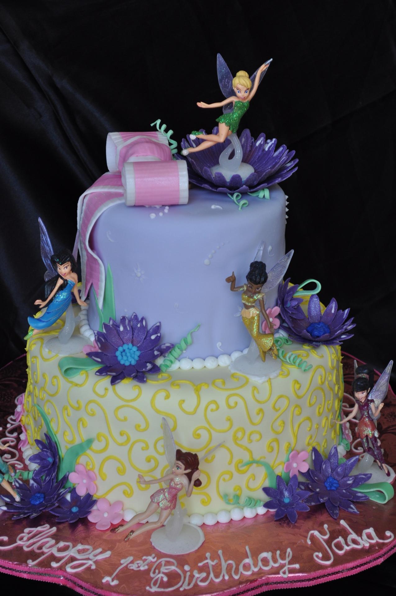 Tinkerbell Fairies  fondant cake