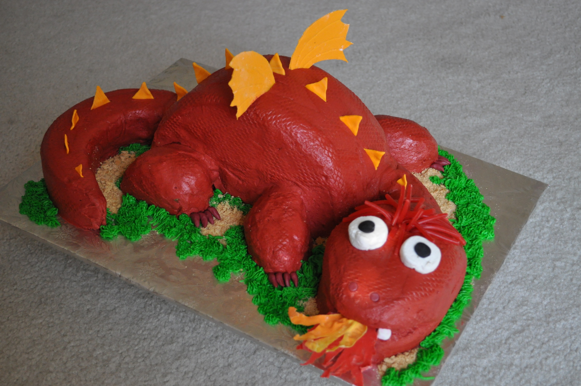 Carved Dragon cake