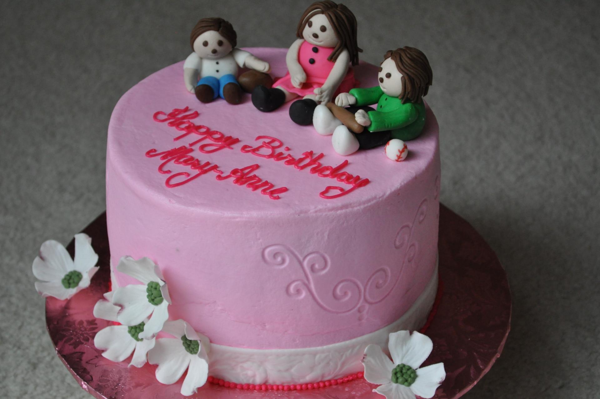 From Grandkids - birthday cake