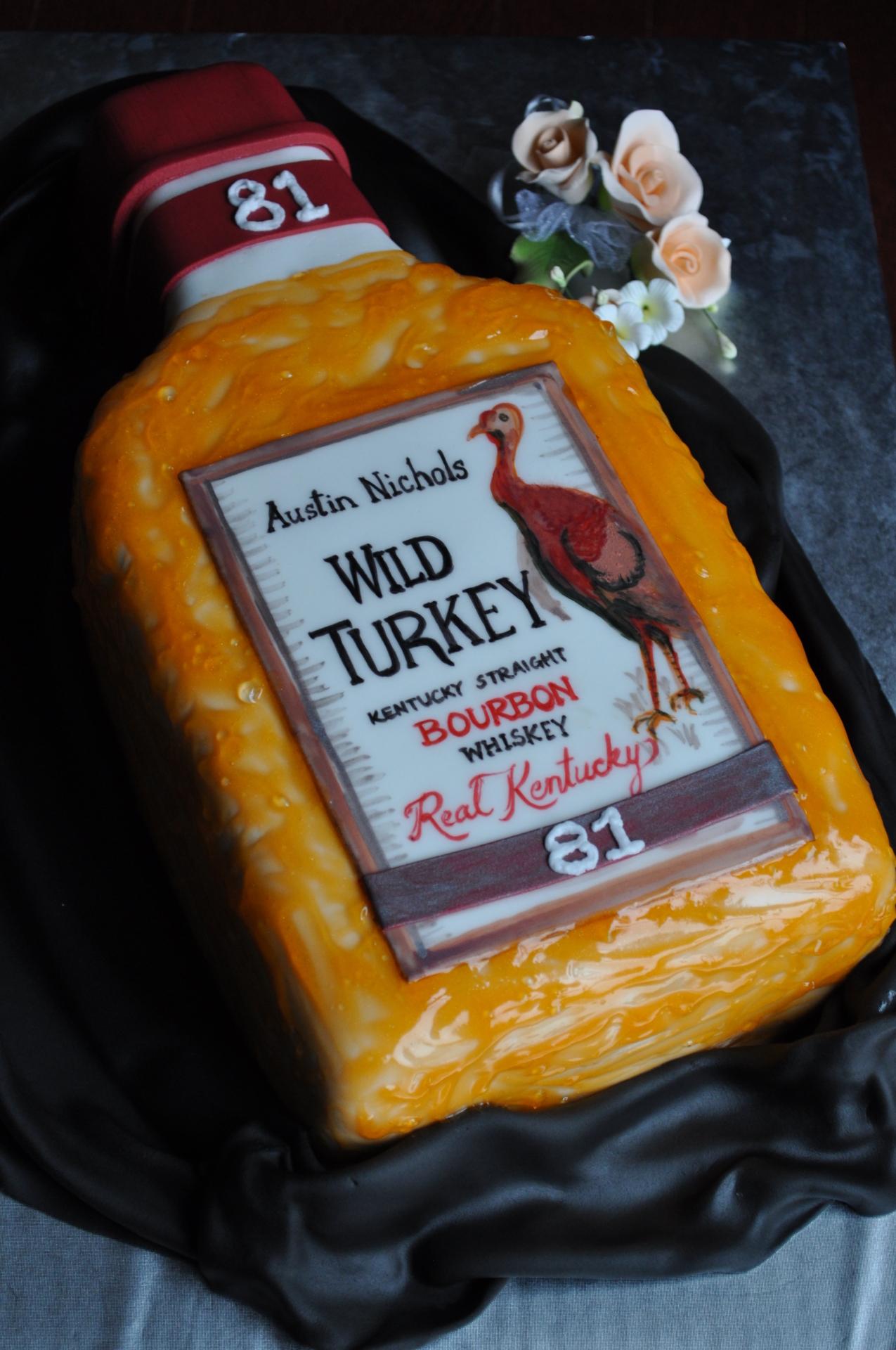 Wild Turkey bottle cake