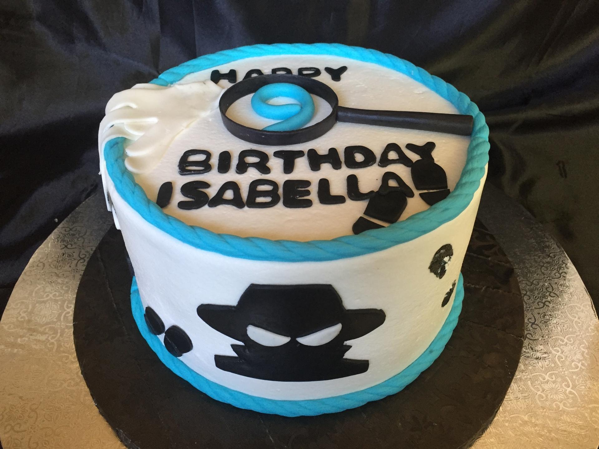 Spy theme cake