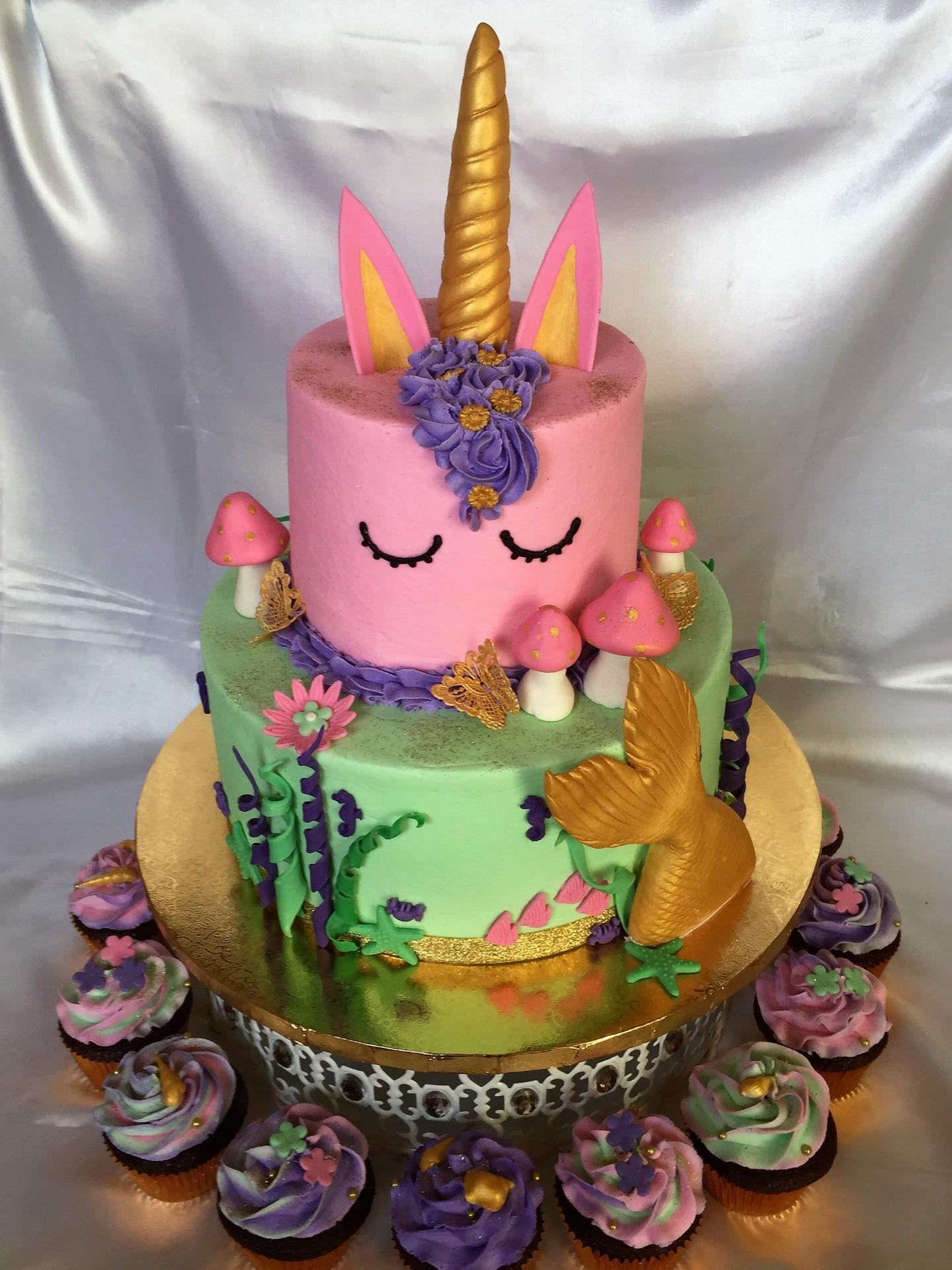 Magical theme- unicorn, fairies and mermaid