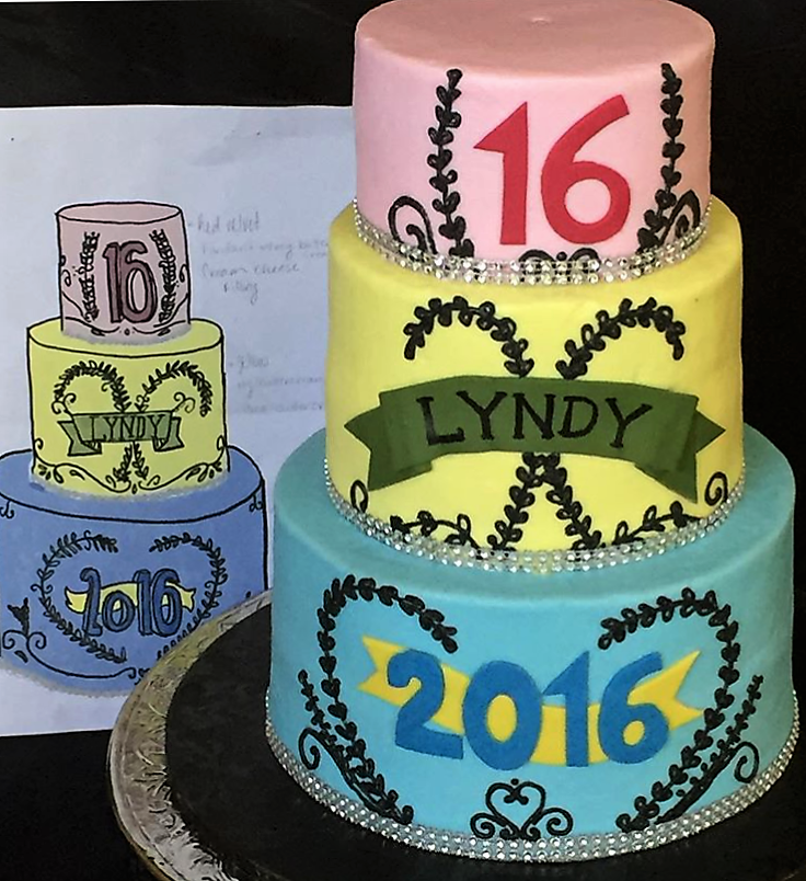 16th birthday to match the birthday girl's sketch