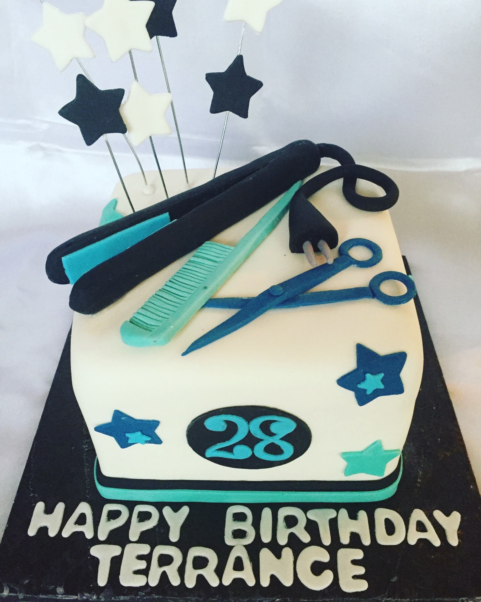 Hair stylist/Barber theme cake