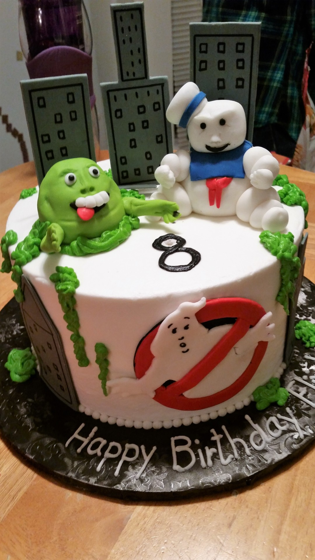 Ghostbusters with fondant figurines