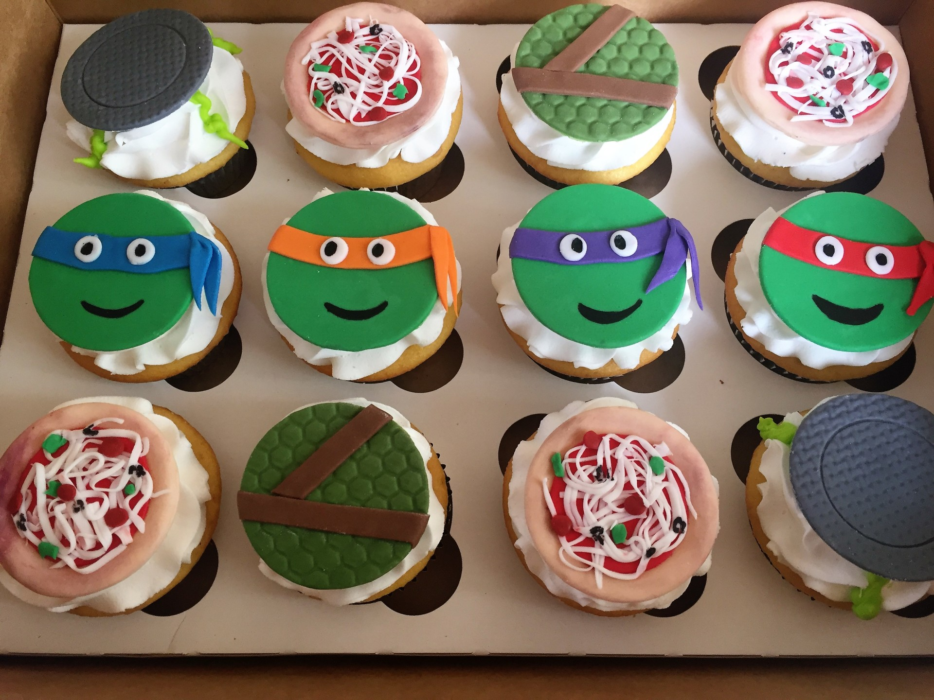 TMNT- assorted fondant toppers