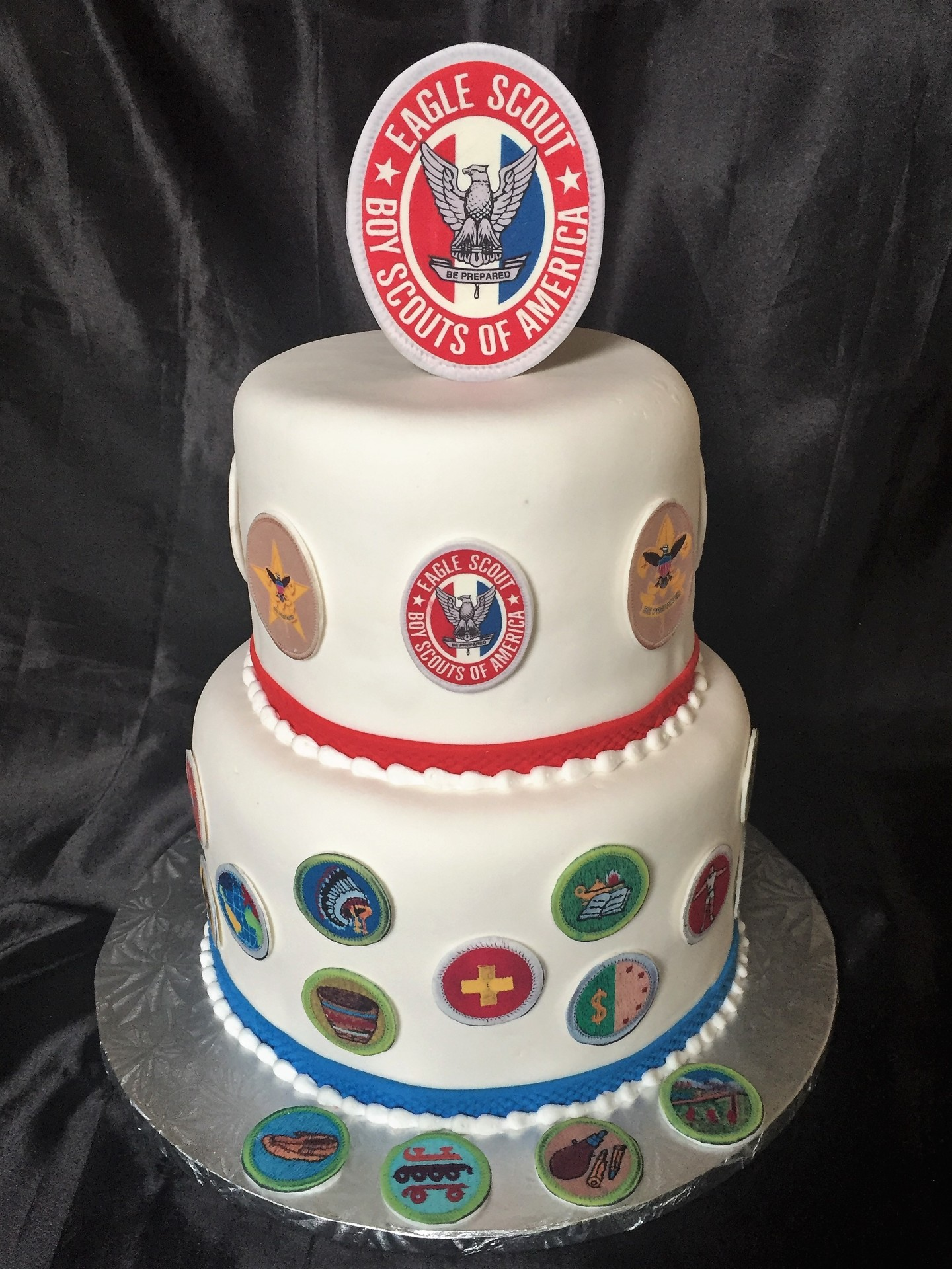 Eagle scout tiered fondant