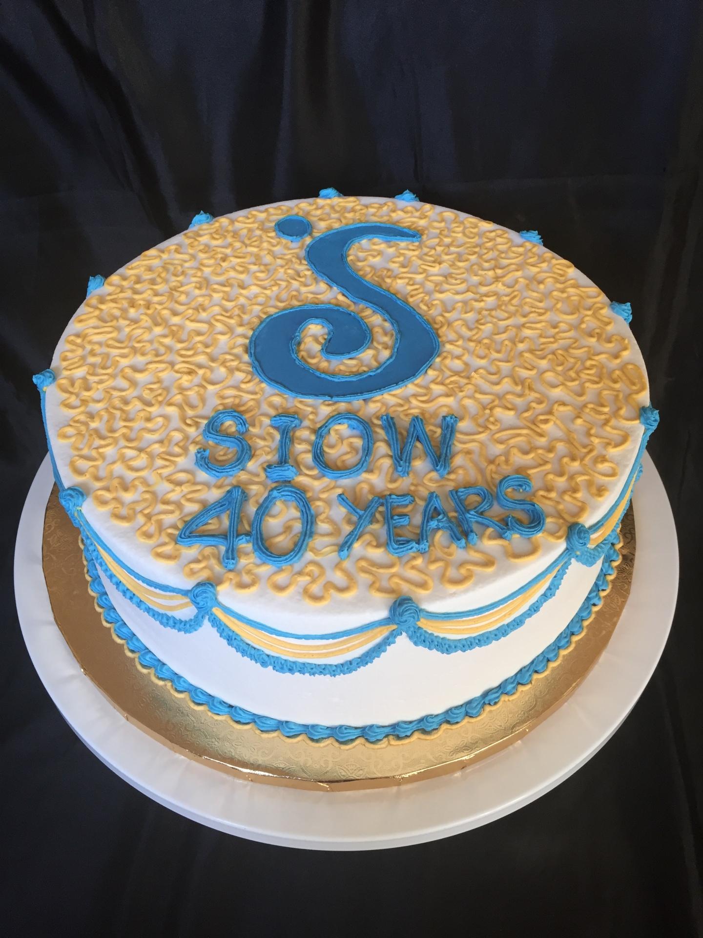 Soroptimist 40th anniversary cake