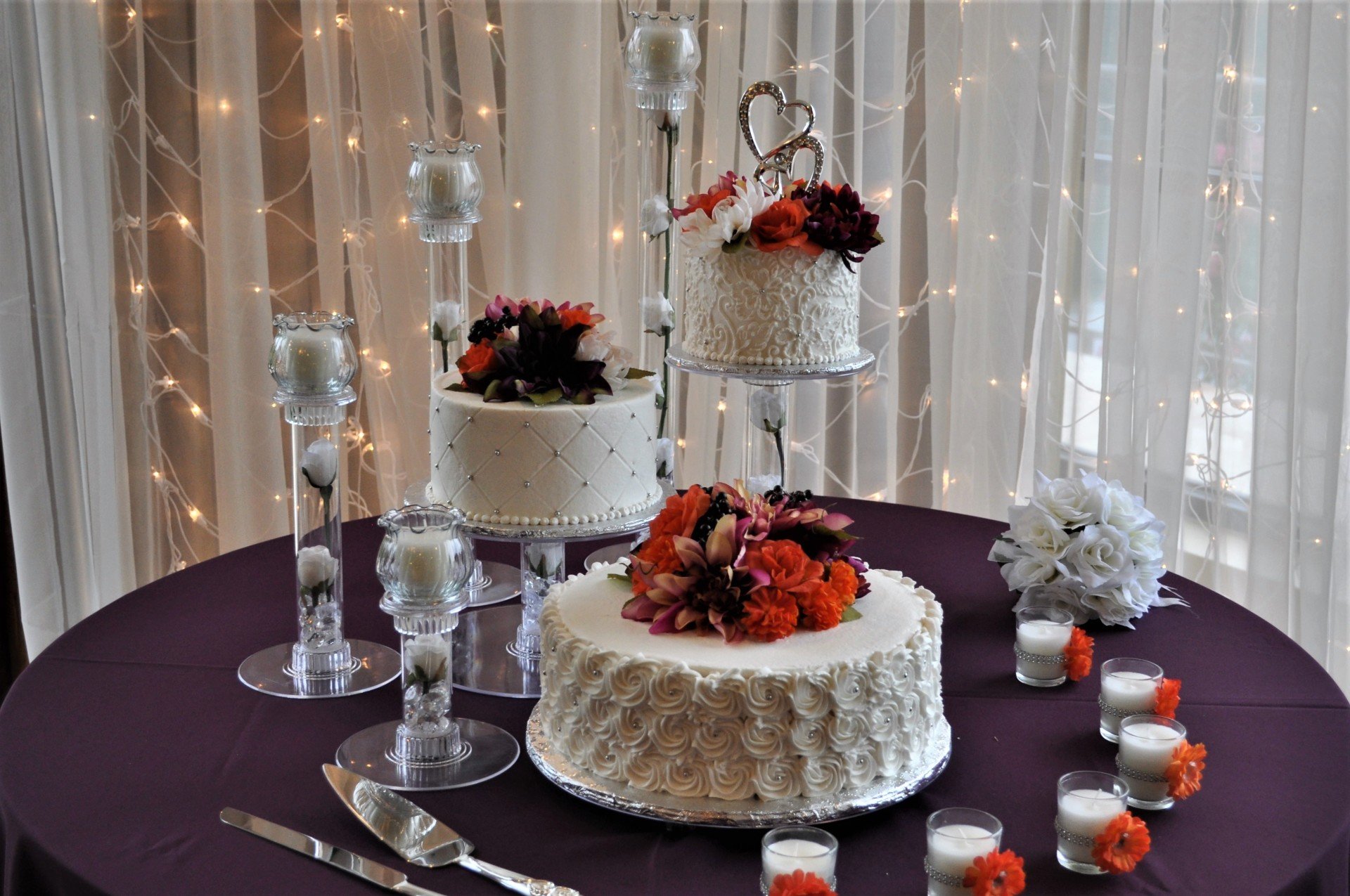 Cascading tiers with candles