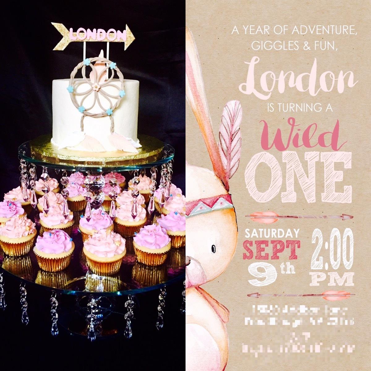 Custom cake to match the invitation!