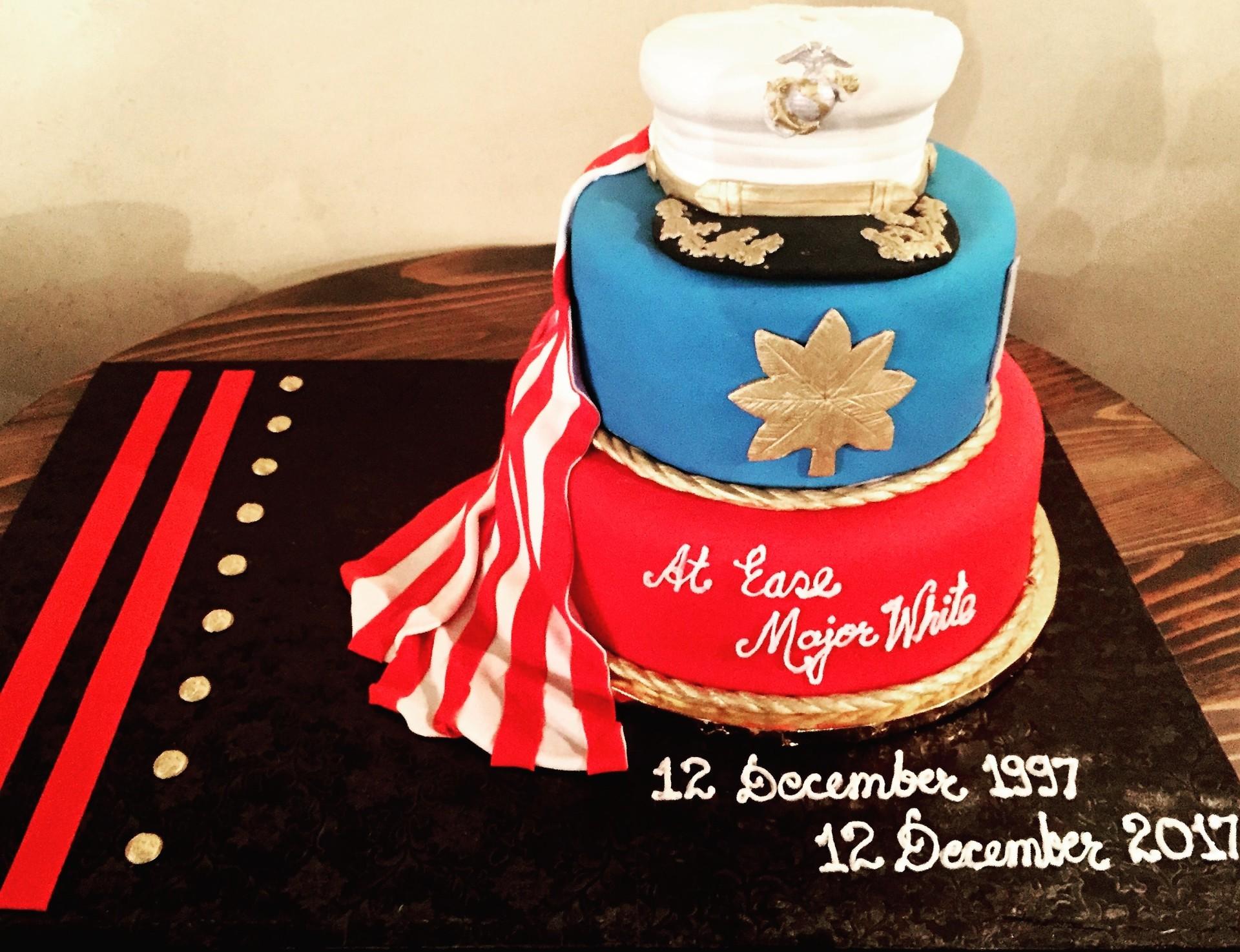 Retirement cake -All fondant