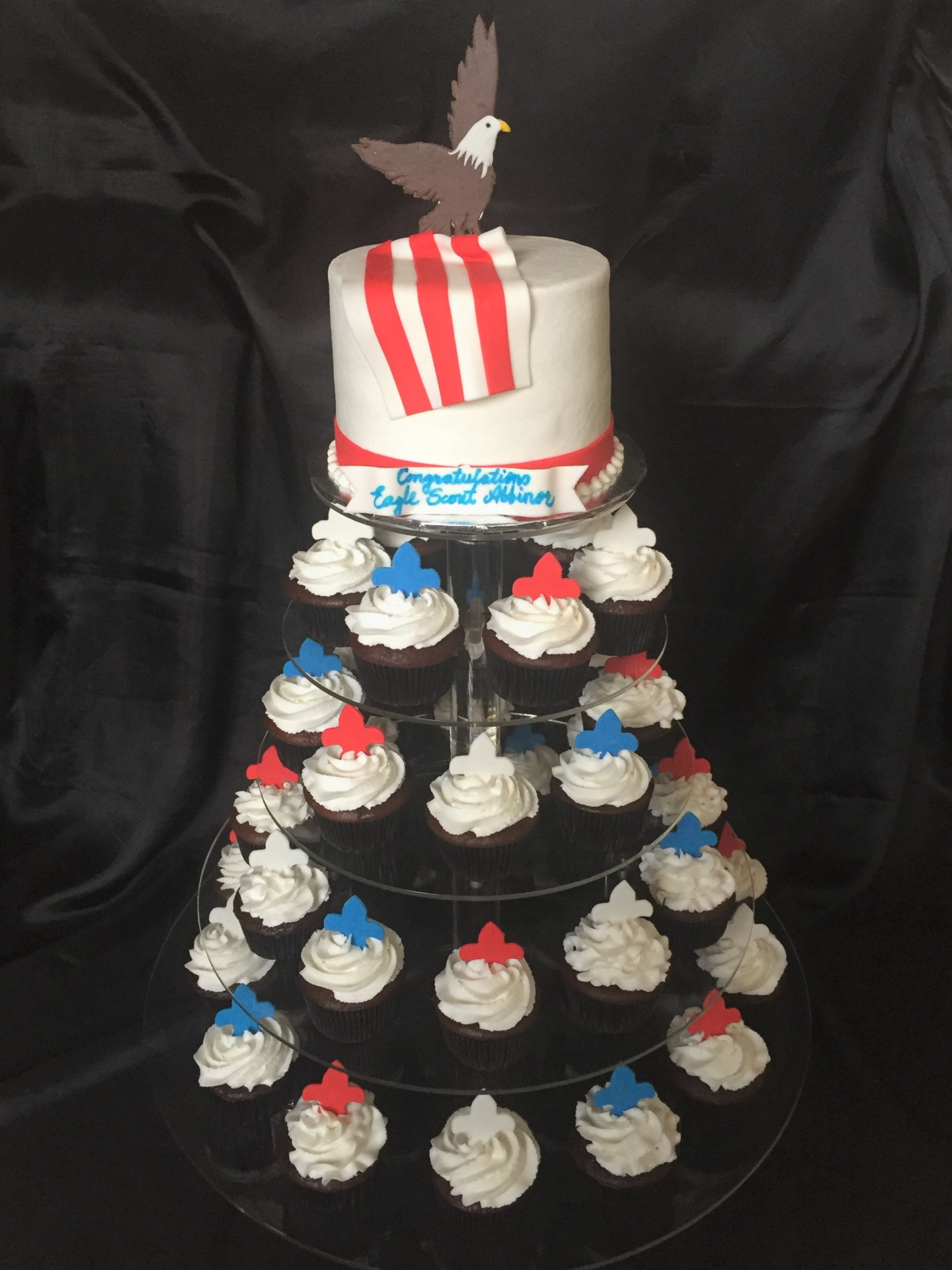 Eagle scout cupcake tower
