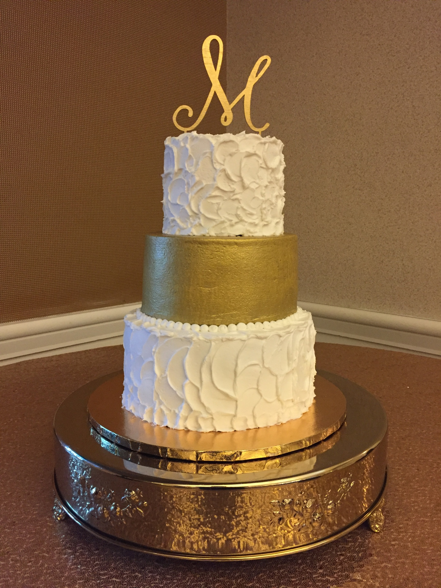Spackled and gold buttercream
