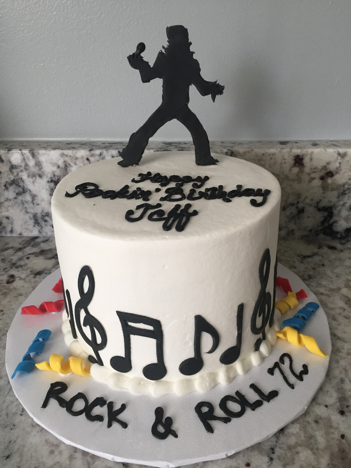Elvis/Rock and Roll theme small buttercream