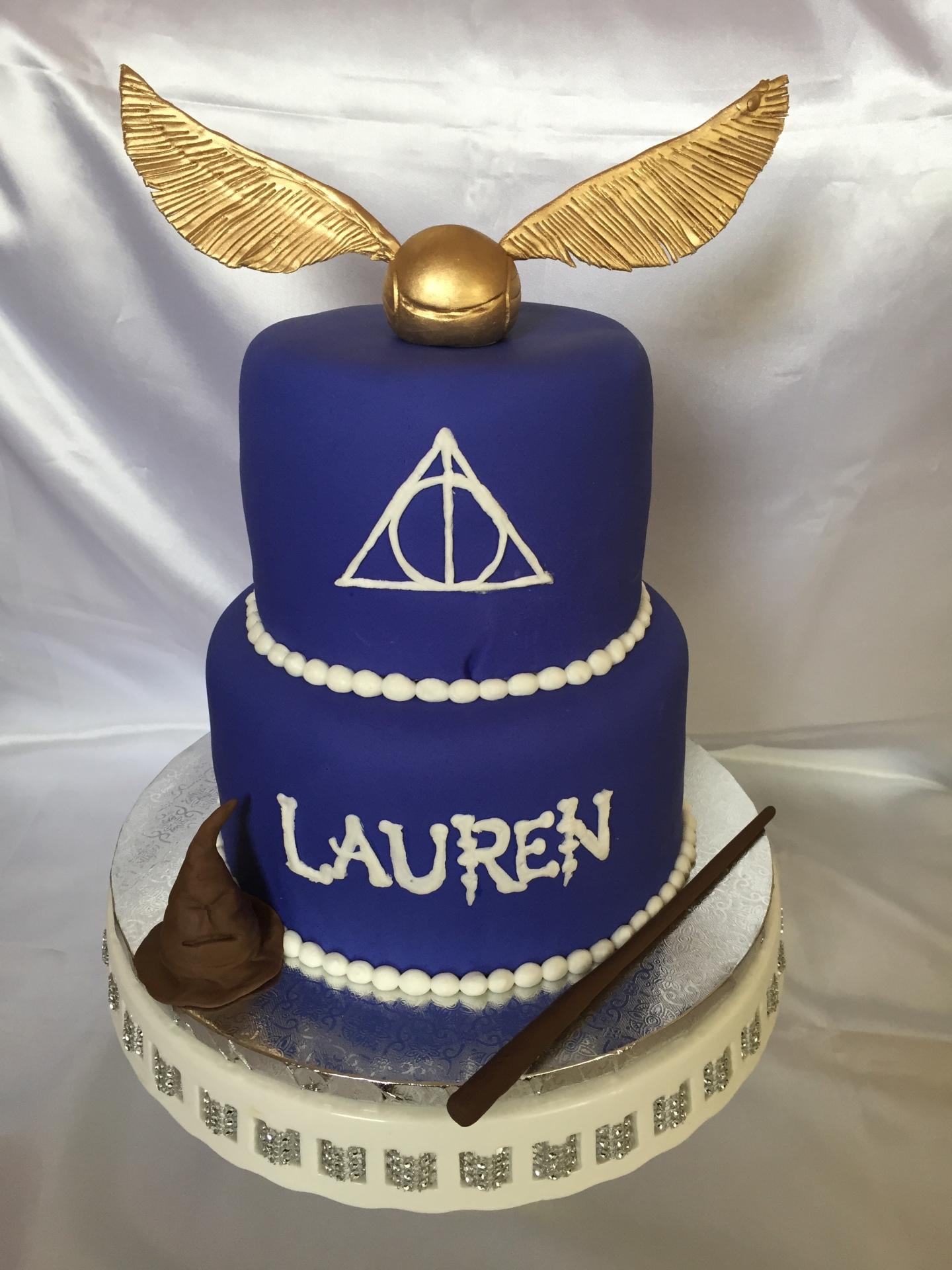 Harry Potter purple fondant