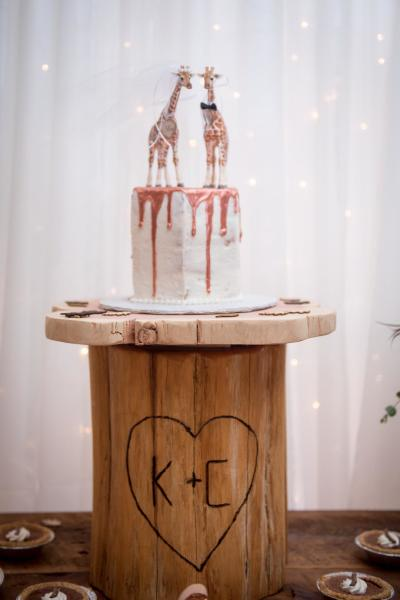 The cutest little semi naked cake!(Photo by A.E.Landes photography)