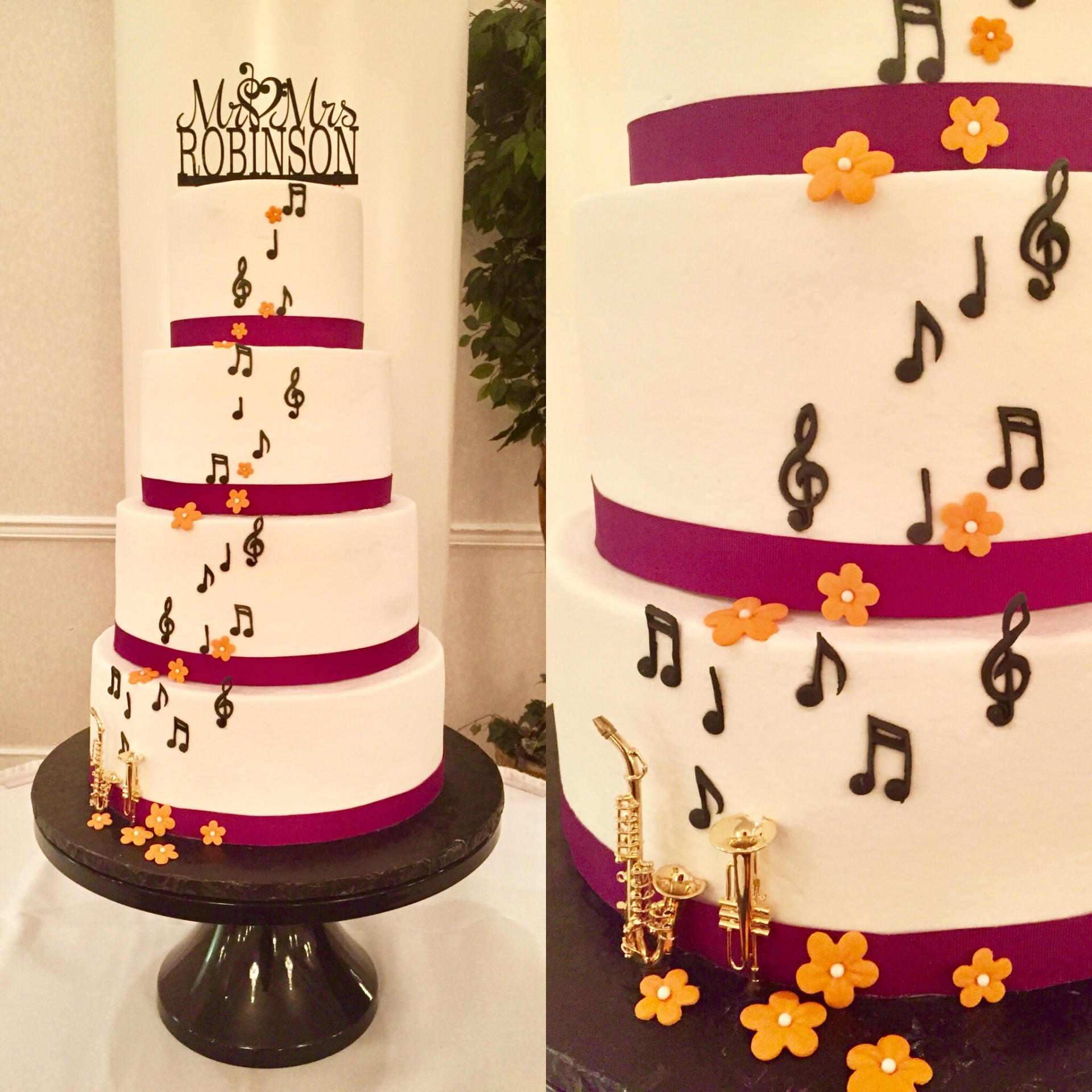 A unique music theme wedding!