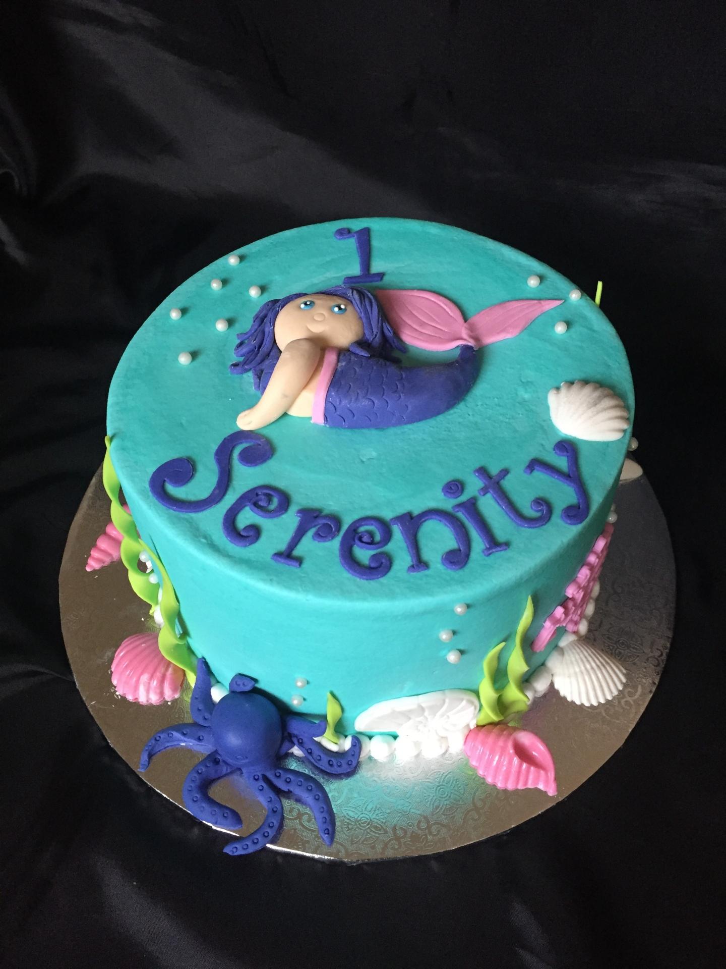 Cute Mermaid 1st bday