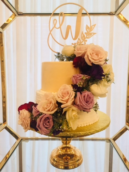 Rustic and Gold with fresh flowers