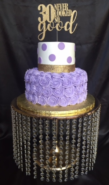 Lavender rosettes tiered