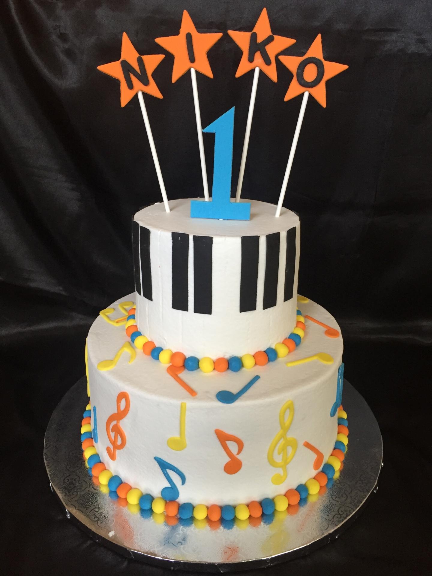 Music theme 1 st birthday