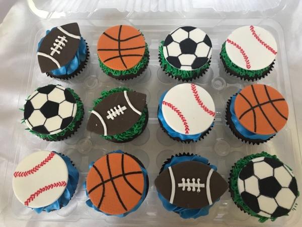 Sport balls fondant cutouts