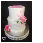 Pink scrolls and gumpaste flowers