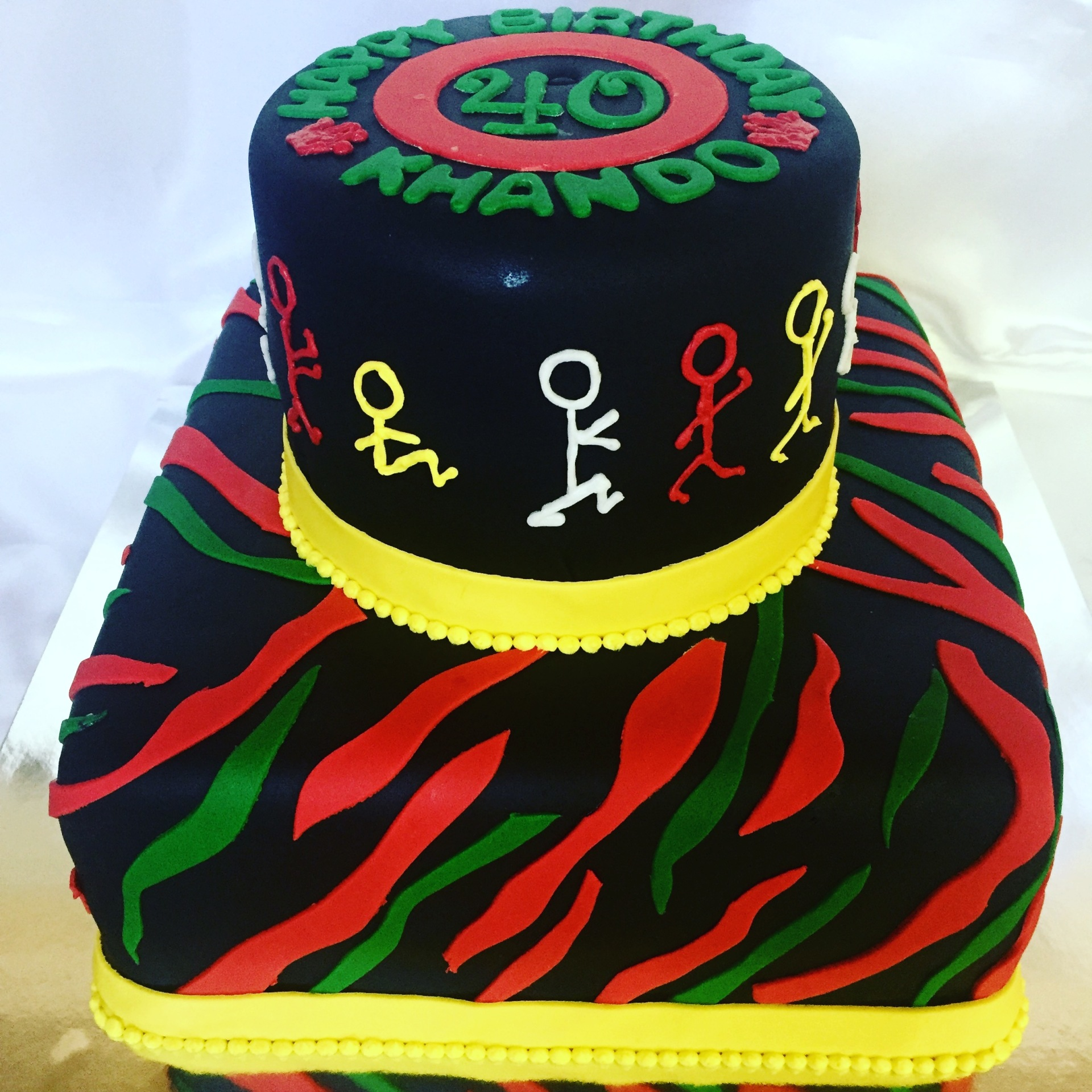A Tribe called Quest fondant cake to match the decor
