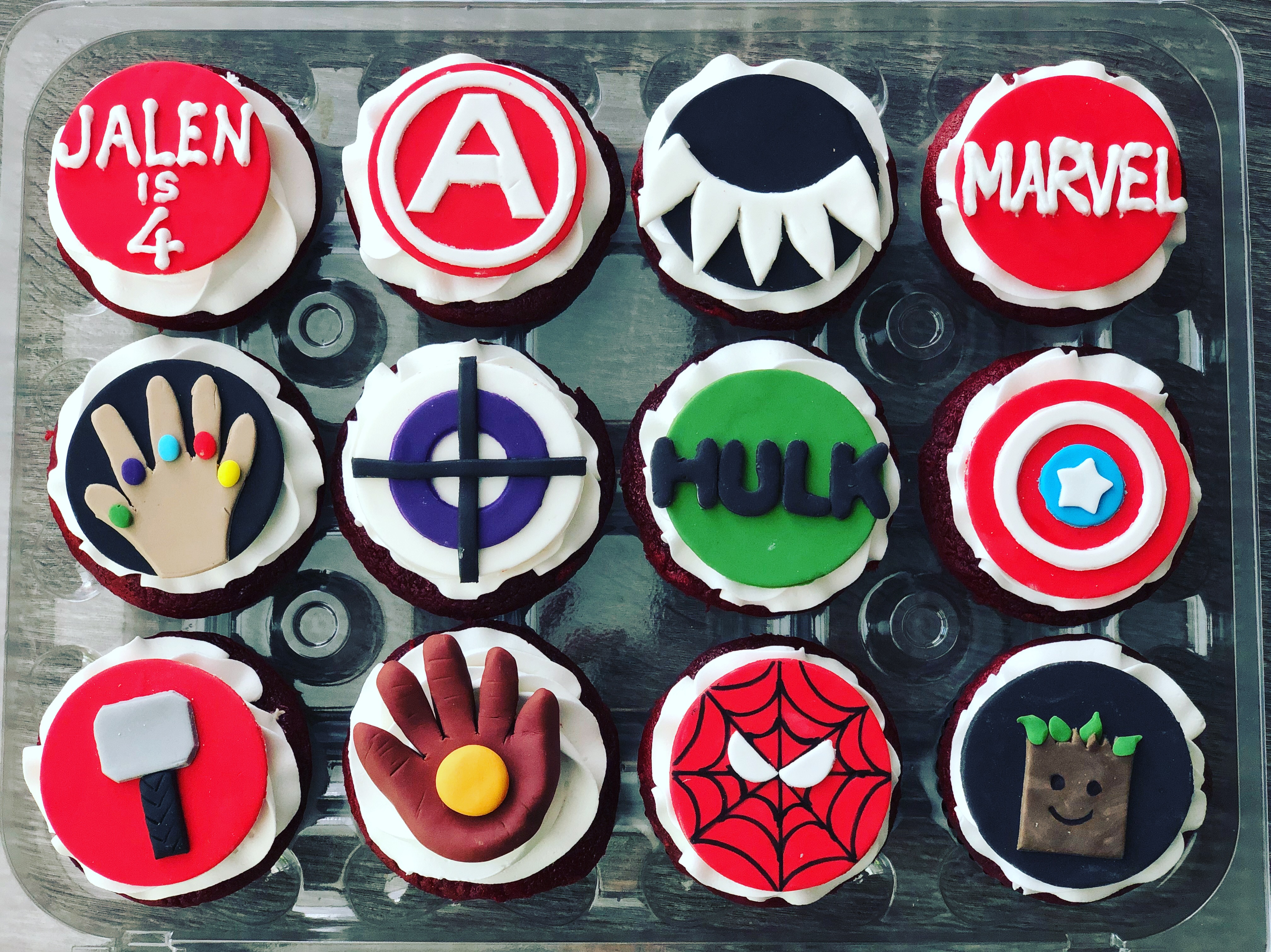 Marvel assorted fondant toppers
