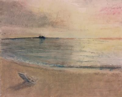 Pastel Drawing of a Florida Sunset