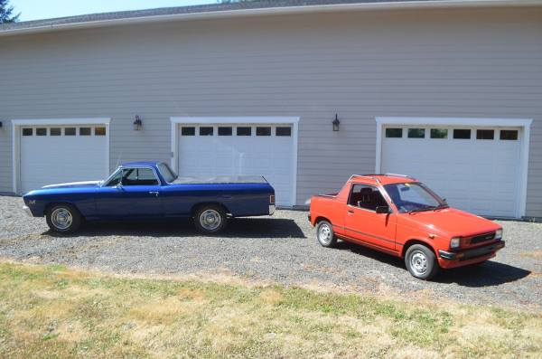 Trucklet Comparison: '67 Chevy El Camino vs. '87 Suzuki Mighty Boy