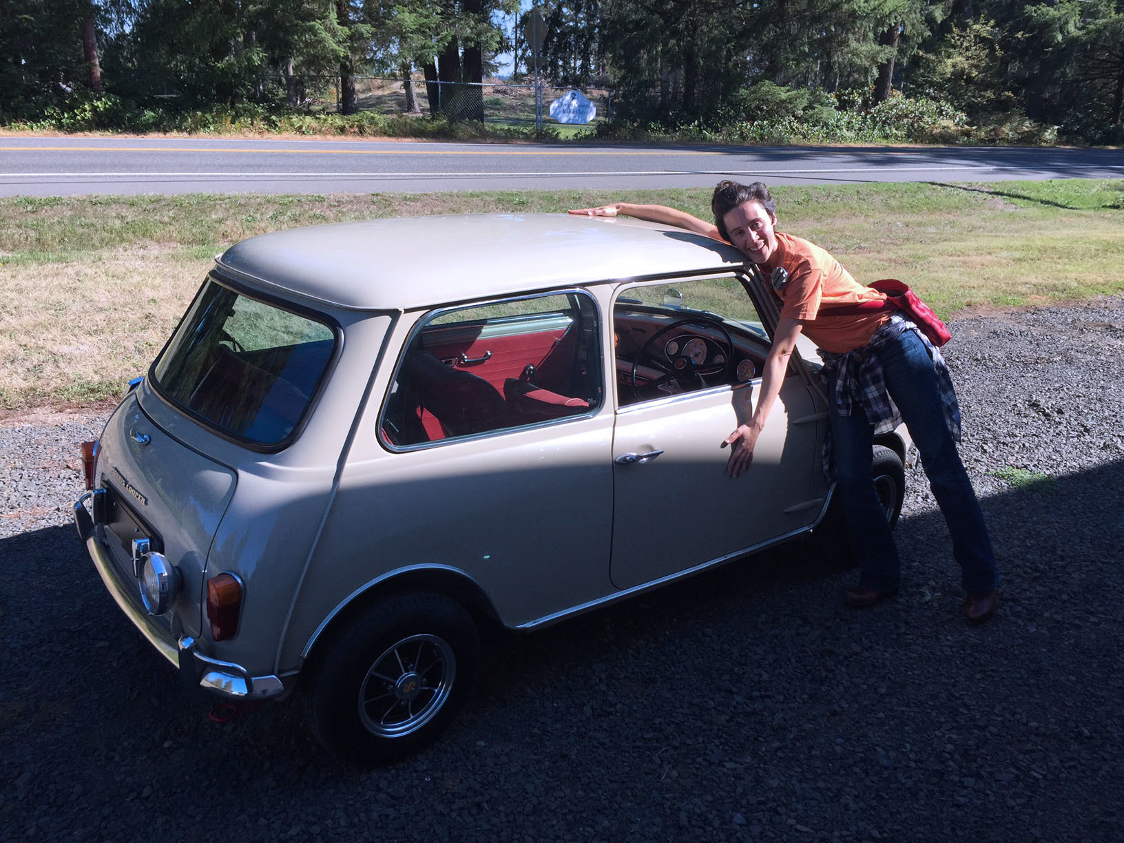 Alex and her 1992 Rover Mini Cooper 1.3 Spi from Class Winners