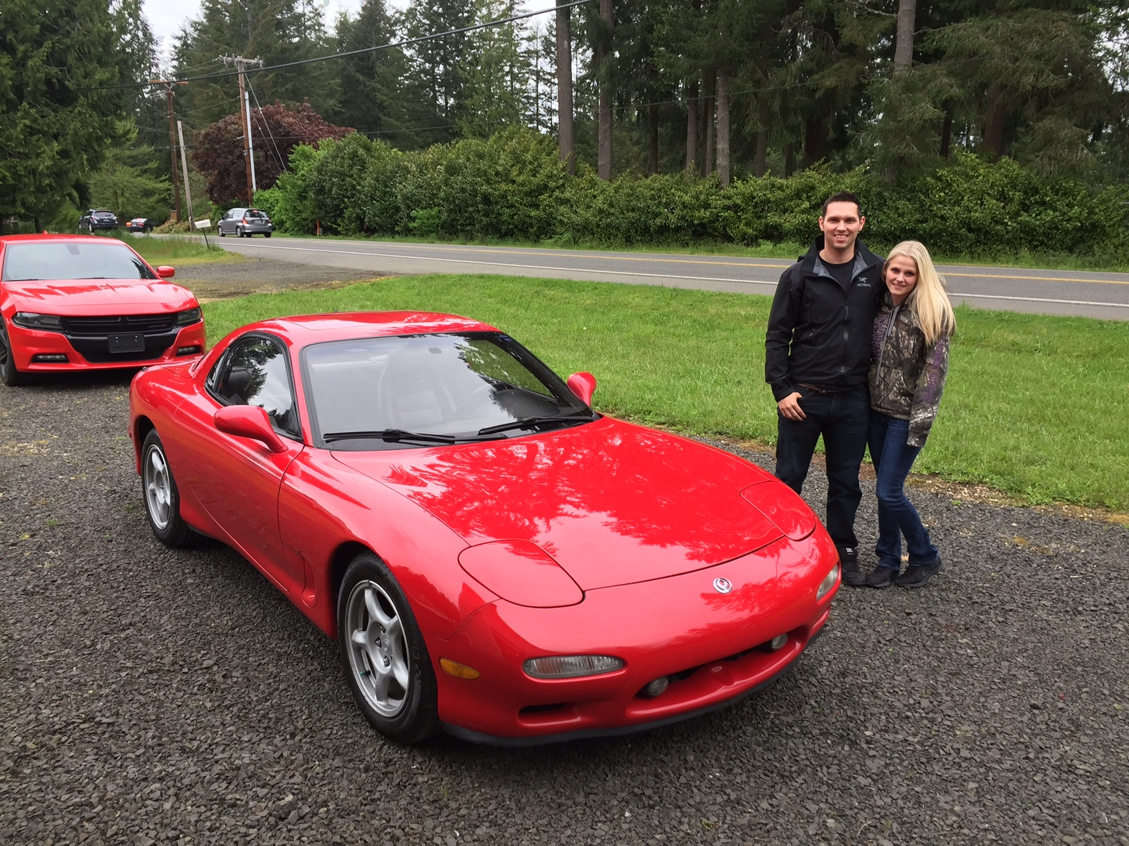 Marty and Amanda with their 1993 Mazda RX7 from Class Winners