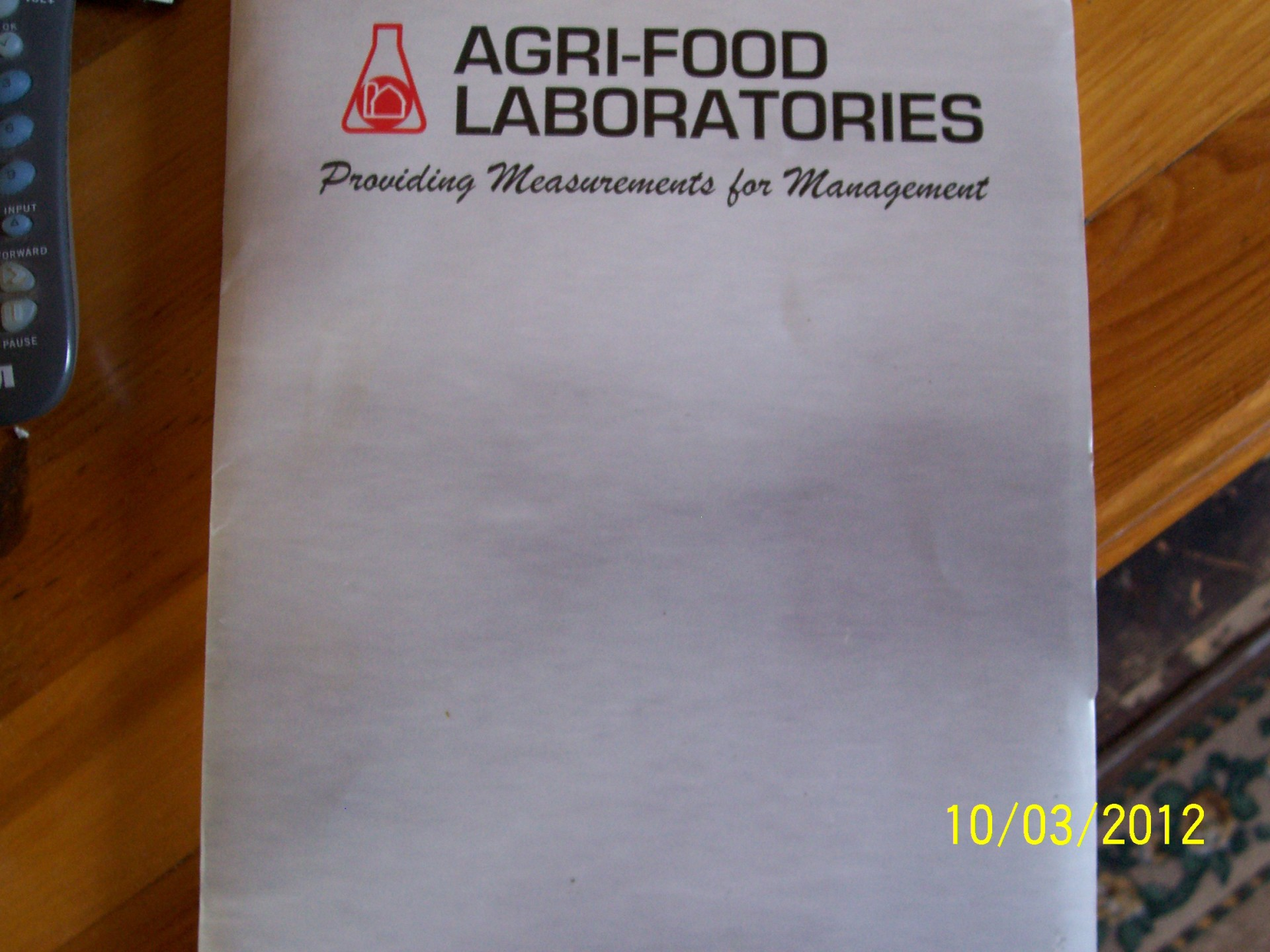 Thank you to Agric-Food Laboratories GFP Workshop