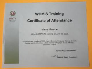 WHMIS Train the Trainer - Training Portfolio of GFP