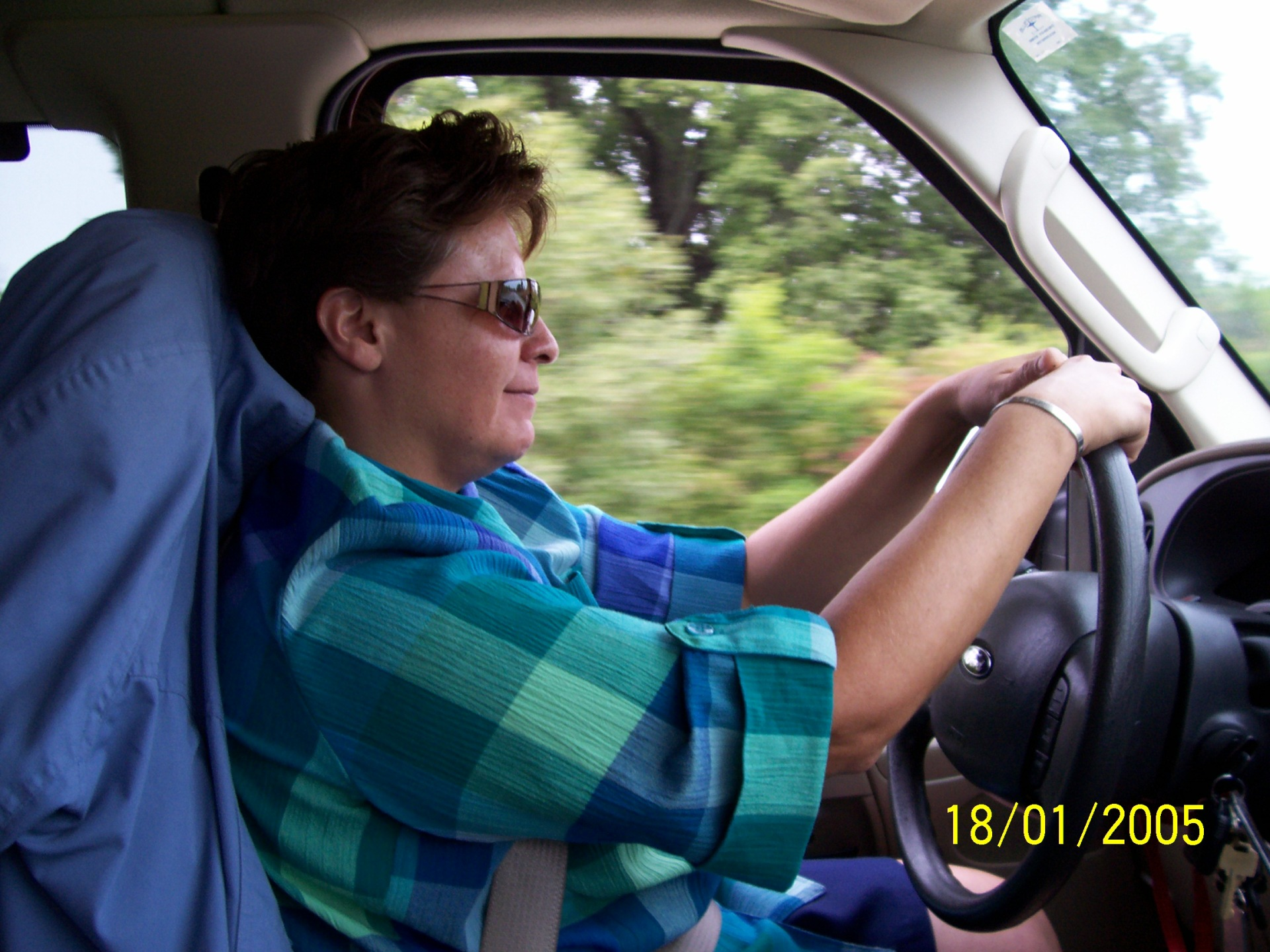 GFP Experience,  Van Driver, Lesley Davis travelling to Academic Tour