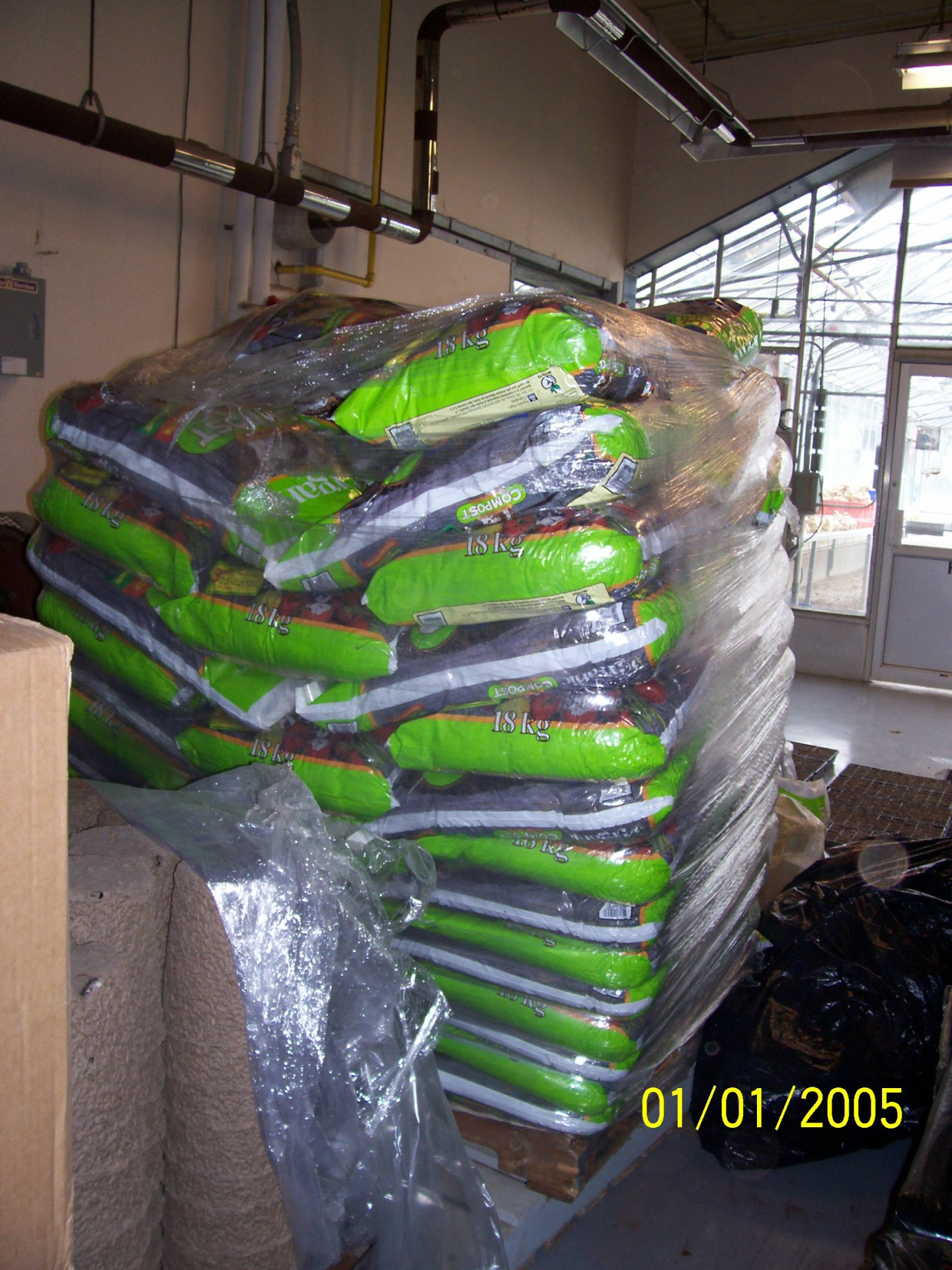 Organic Humus stock piled at OMAFRA Agriculture College - GFP 2007