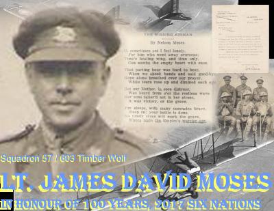 Lesley Davis Materal Great Uncle Lieutenant James D. Moses Royal Airforce