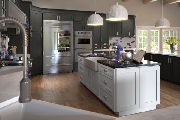 Shaker White & Greystone Shaker Cabinets