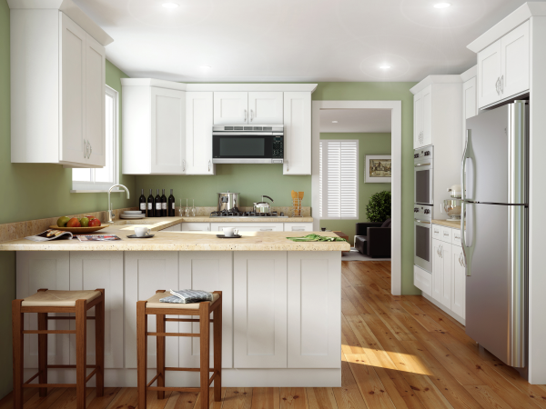 Shaker White Cabinets