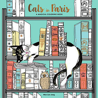 Cats In Paris Adult Coloring Book Review