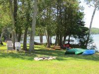 Bonfire area at the Cottage near Algonquin Park