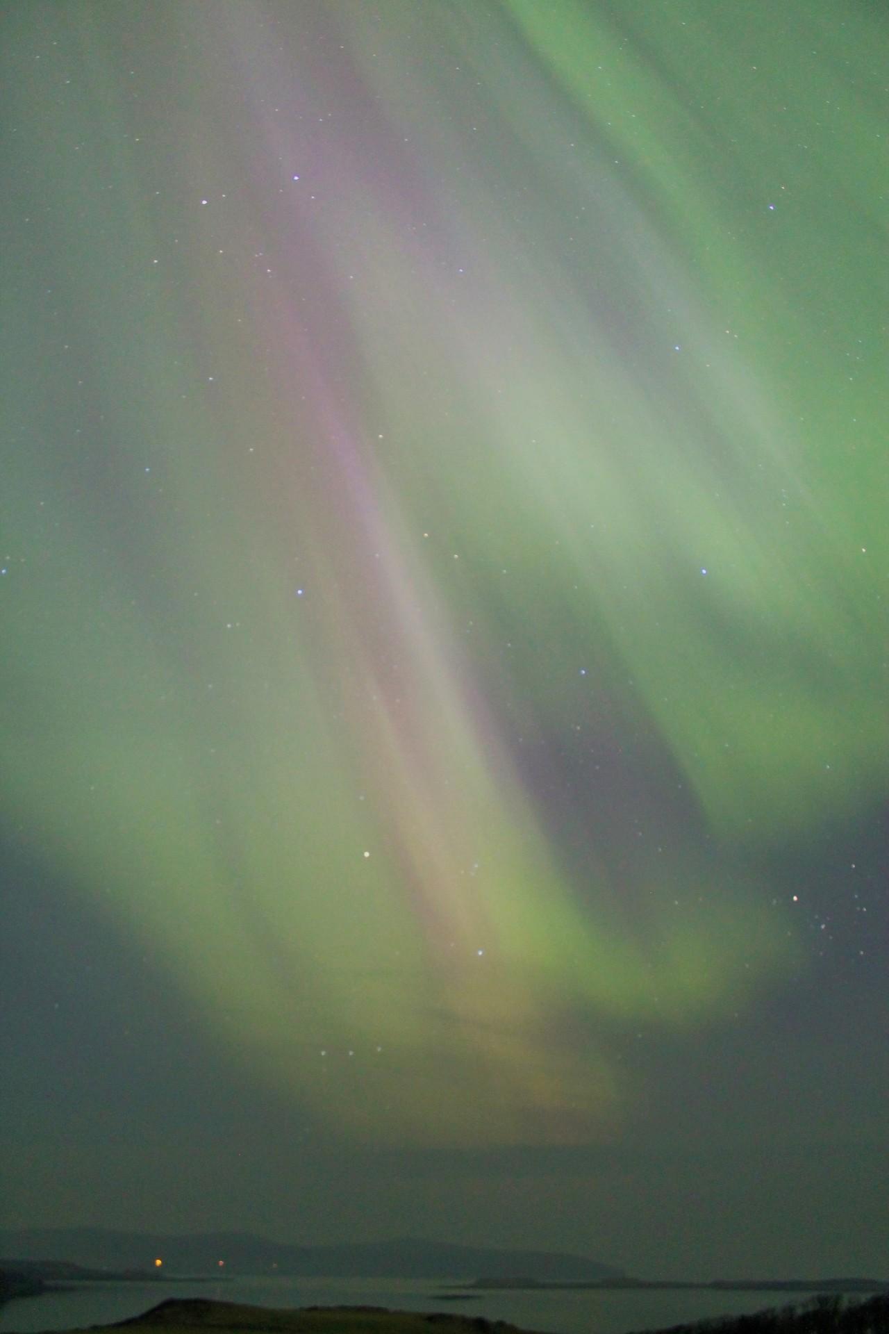 Aurora over Loch Bay