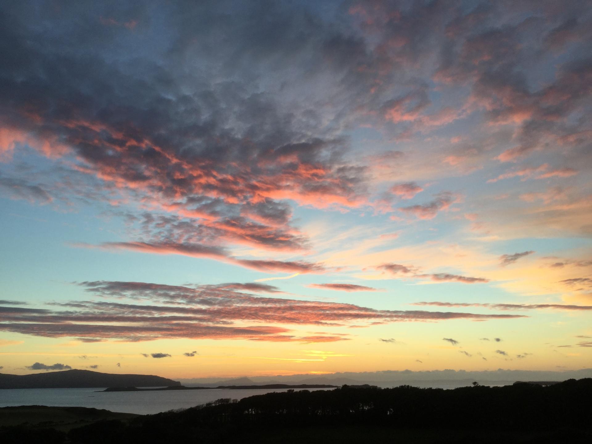 Sunset over Loch Bay