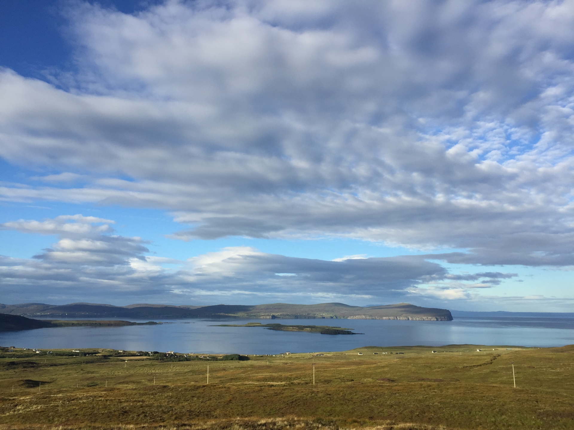 Beautiful skies over Loch Bay