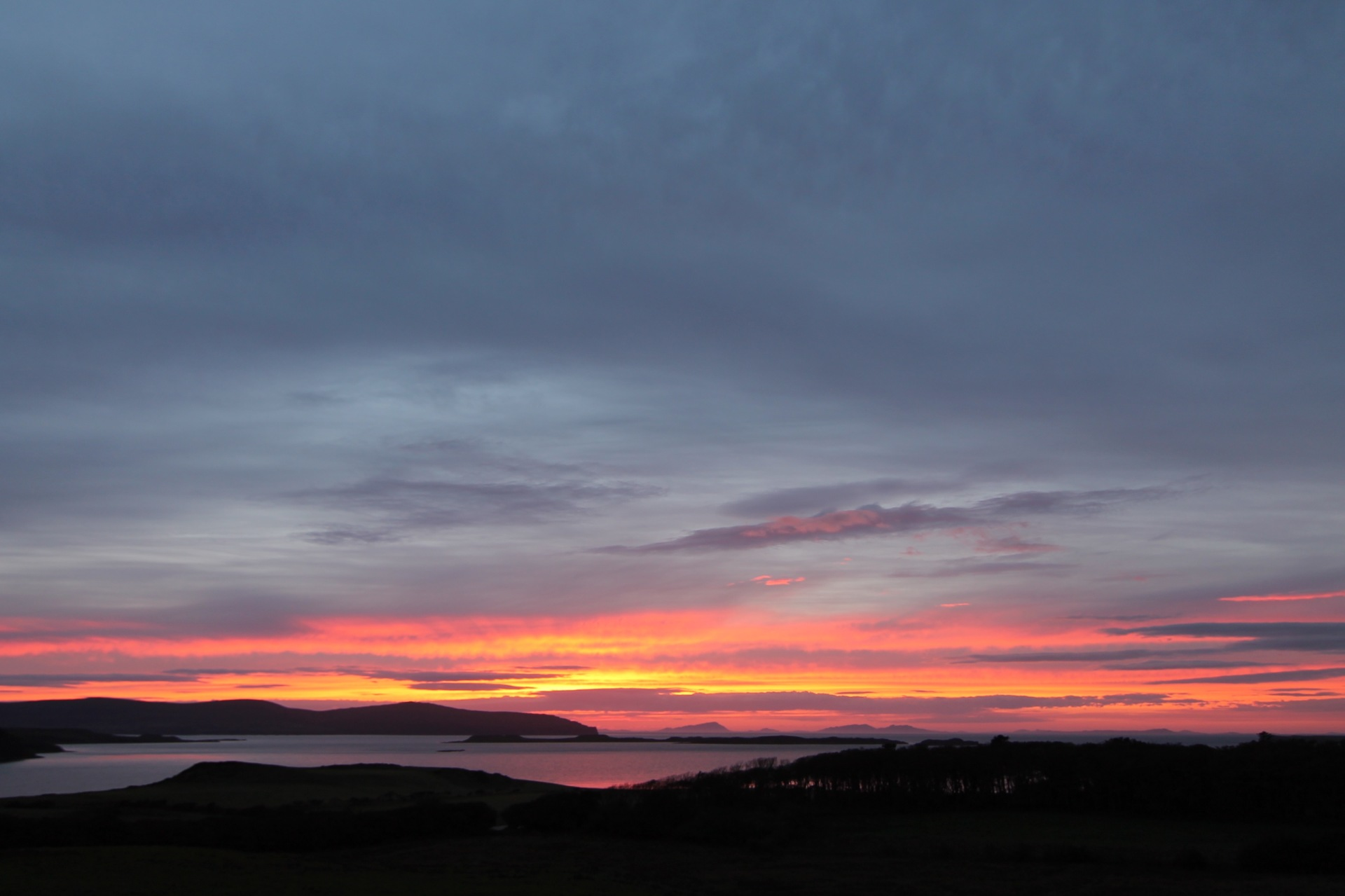 Stunning sunset over Loch Bay